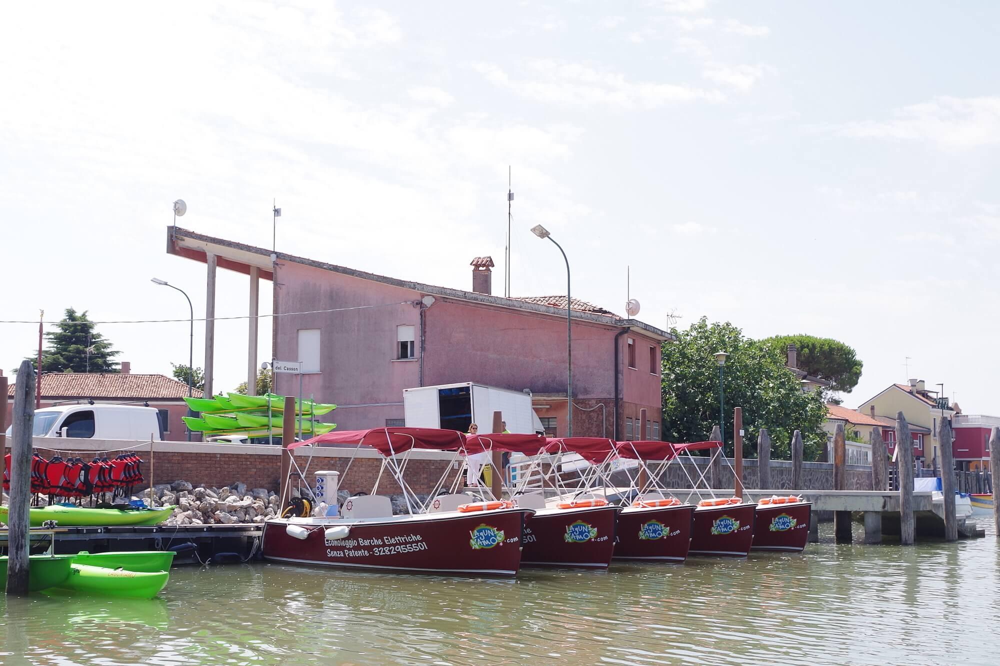 barche elettriche per uscire in laguna