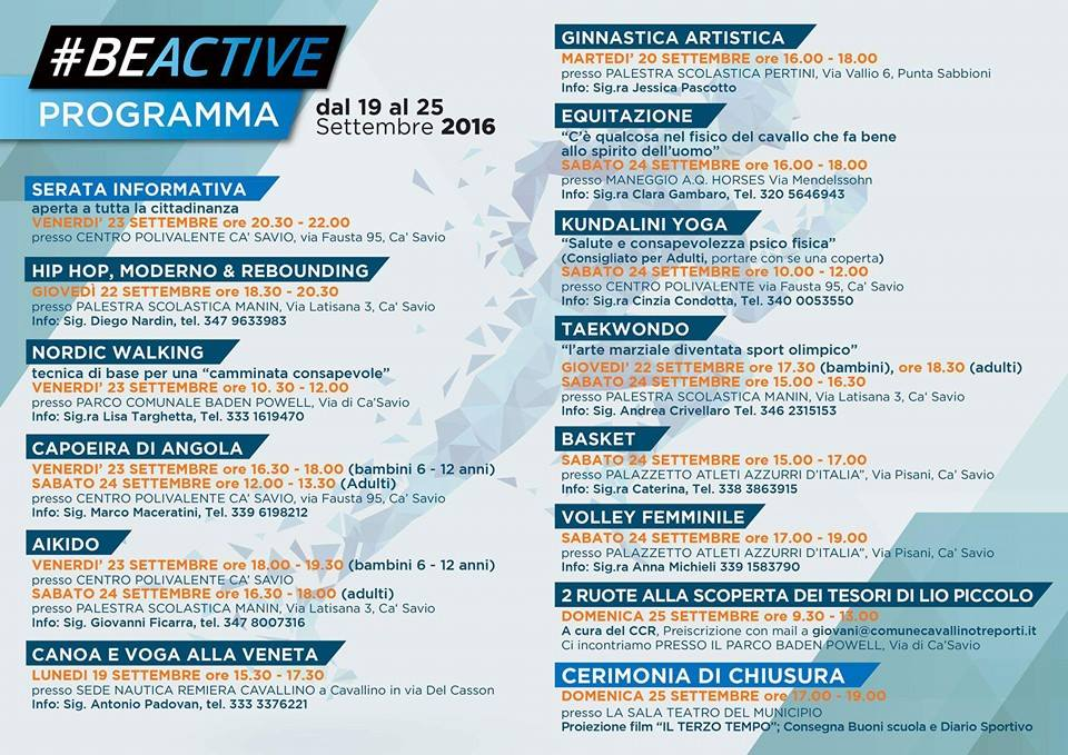 programma-beactive - evento su Facebook